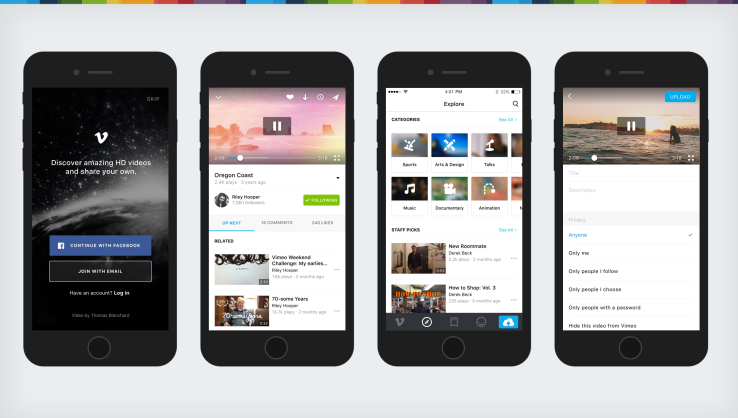 Vimeo's iOS app gets a big makeover aimed at improving discovery