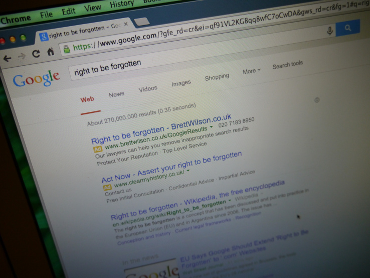 Google now uses geolocation to hide 'right to be forgotten' links from its search results