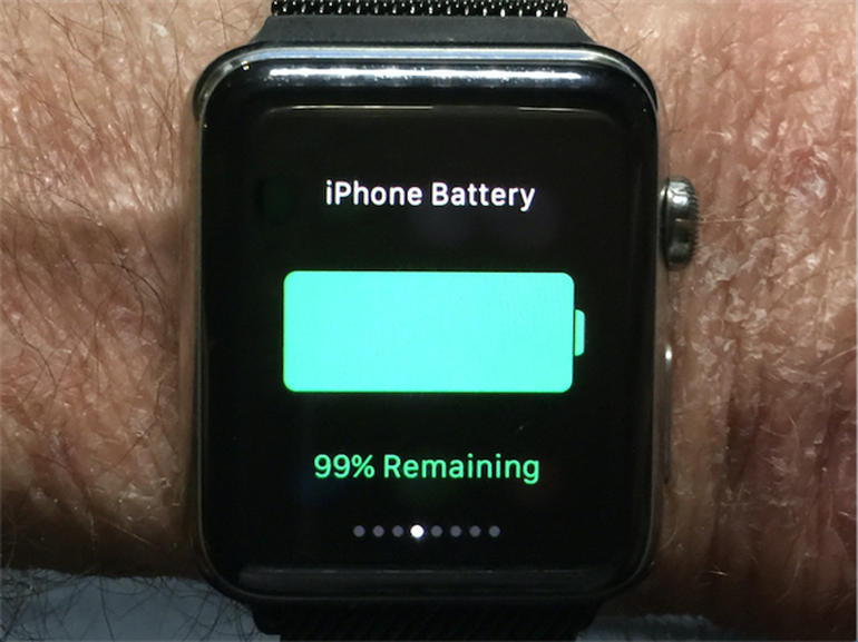 How to check the iPhone battery level on the Apple Watch