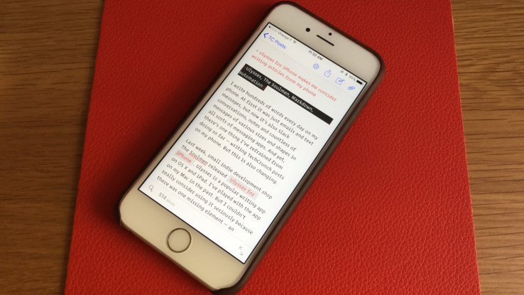 Ulysses for iPhone makes me consider writing articles on my phone