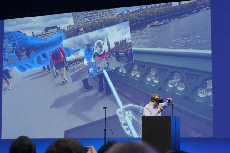 Oculus demos a VR selfie stick and personalized avatars