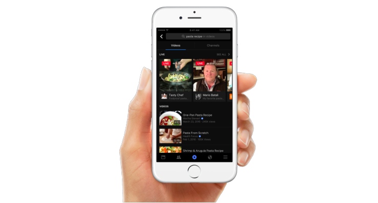Facebook adds video search to combat original content sharing decline