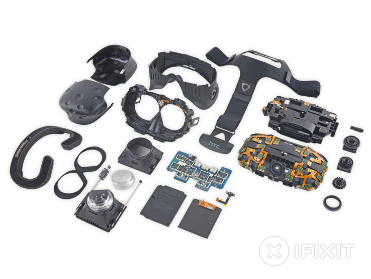 Teardown of HTC Vive highlights the headset's differences from Oculus Rift