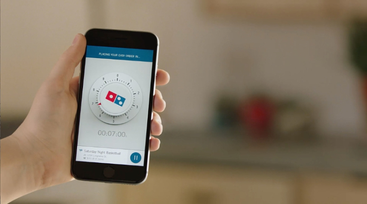 Domino's now lets you order pizza just by launching an app – no clicking required