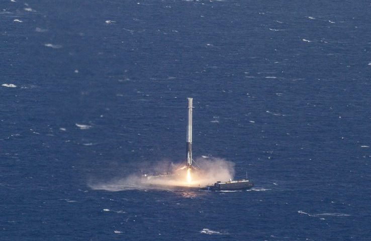 SpaceX launches a communications satellite and sticks another landing