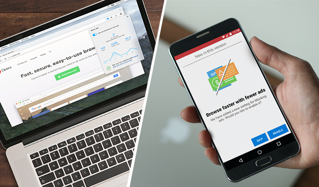 Opera's ad blocker comes to its stable release channel and Opera Mini for Android