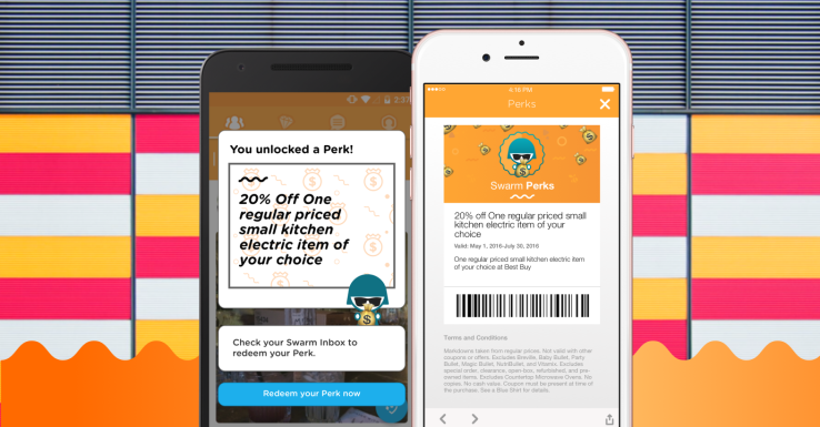 Swarm launches Perks so you can get real-world rewards