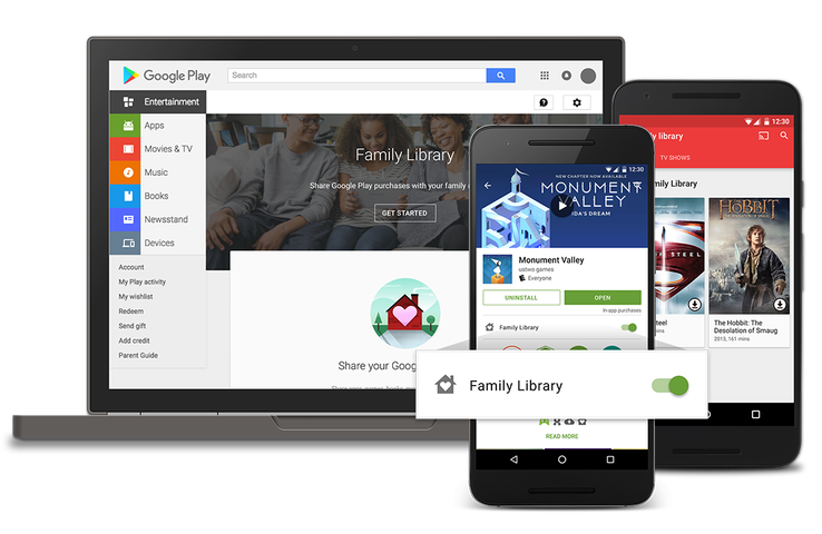 Google launches Family Library, a way for families to share Google Play purchases