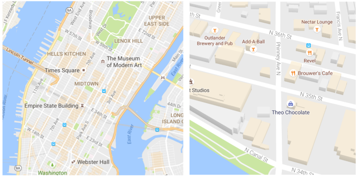 Google Maps gets a cleaner look and starts highlighting areas of interest