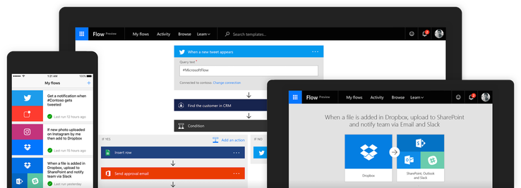 Microsoft Flow, the company's IFTTT competitor, comes to Android