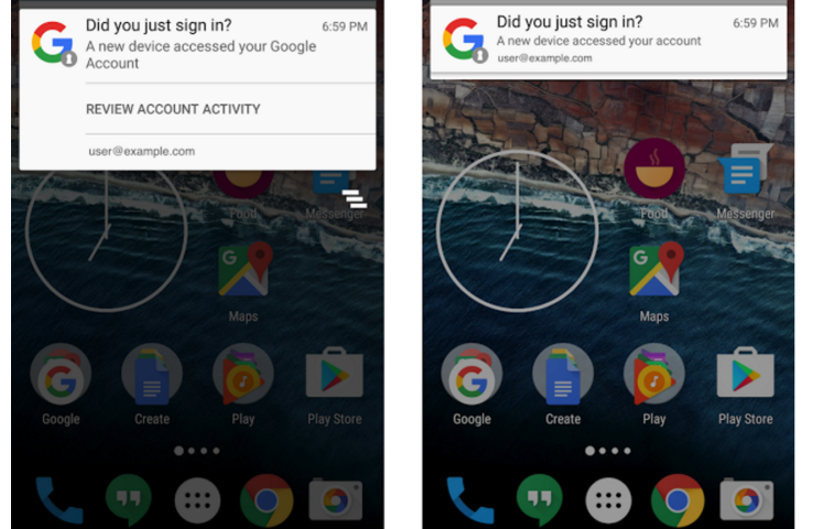 Android will now send push notifications when new devices are added to your account