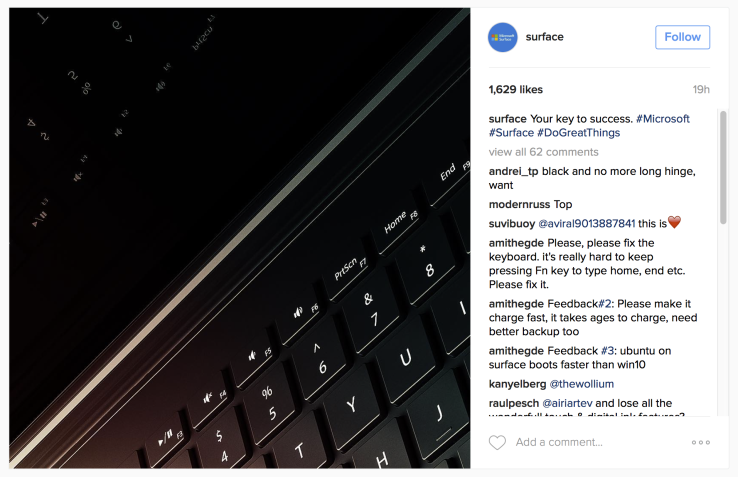 Microsoft teases what looks like a black Surface Book 2