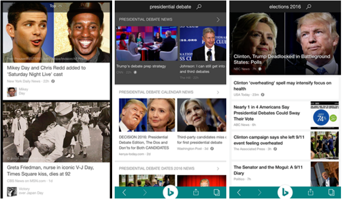 Microsoft's Bing mobile apps get support for Google's AMP
