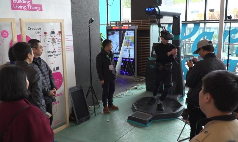 Watch this $9K VR walking rig really put players into the game