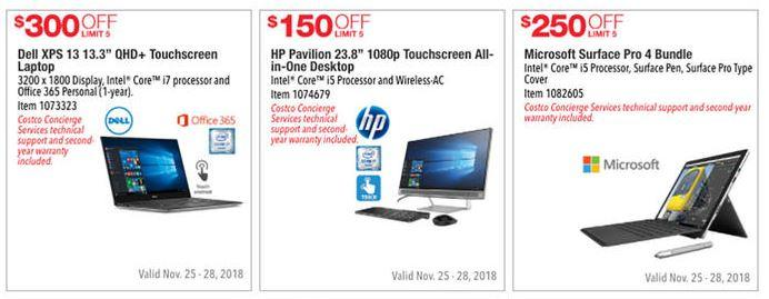 Costco Black Friday ad leaks with numerous laptop, desktop, tablet PC deals