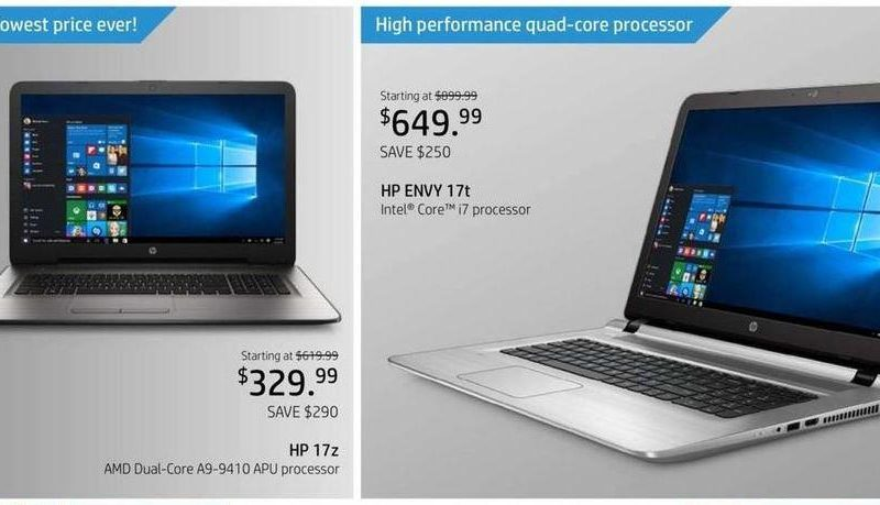 HP Black Friday ad leaks with laptop, desktop PC deals from $250