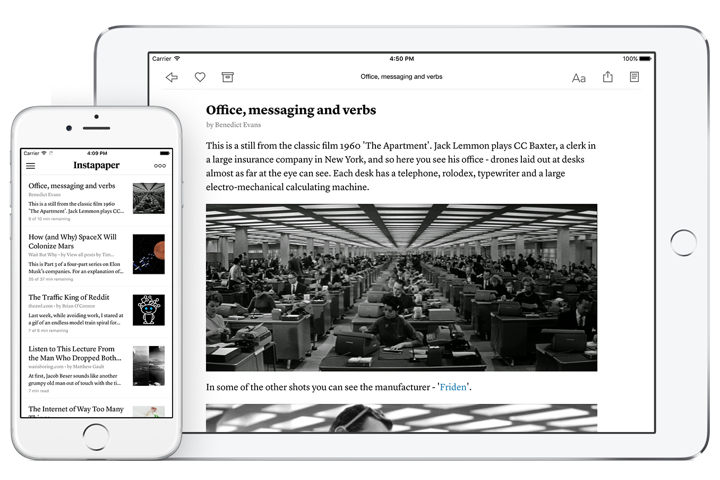 Instapaper premium goes free for all users