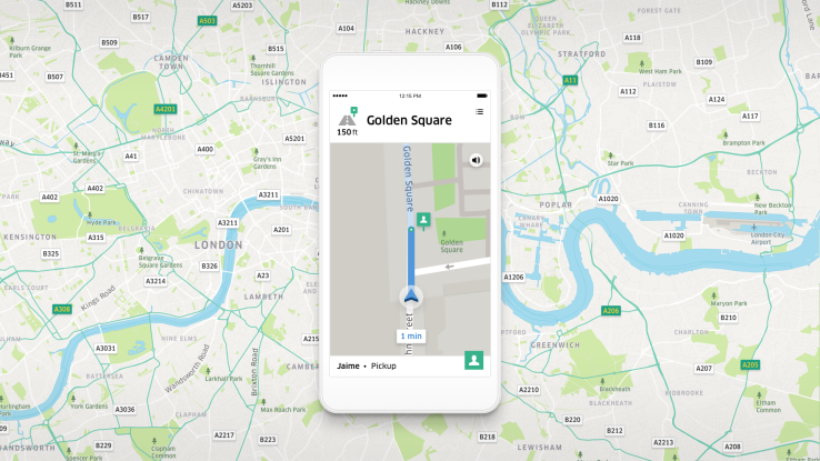 Uber's new in-app navigation is designed specifically for Uber drivers
