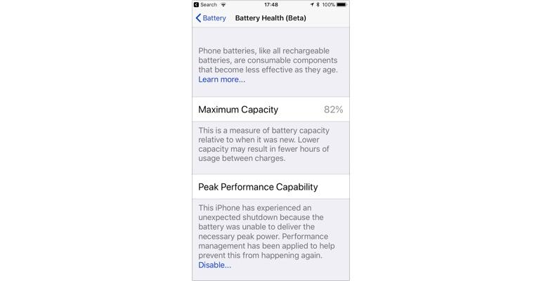 Here's how iOS 11.3 handles an iPhone crash due to a bad battery