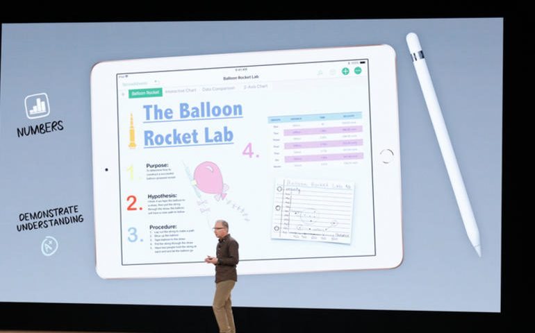 iPad with Apple Pencil support, $299 for schools, aimed at Chromebook
