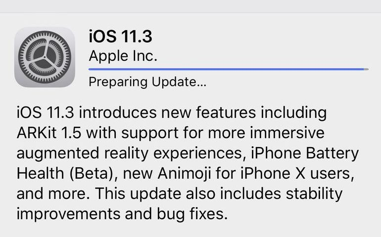 Apple releases iOS 11.3 with iPhone battery tool, new Animoji, and more