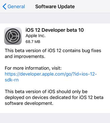Apple updates iOS 12 beta one more time as launch nears