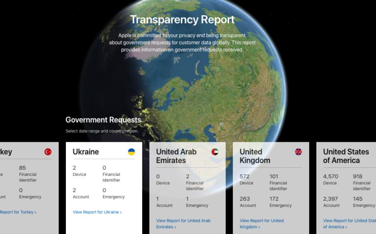 Apple's latest transparency report reveals growth in government data requests