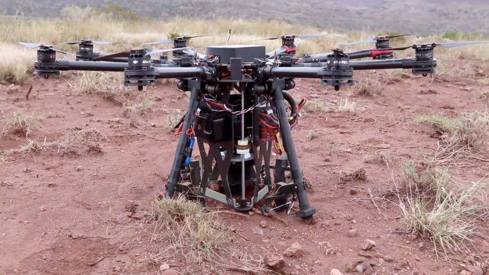 This hole-digging drone parachutes in to get the job done