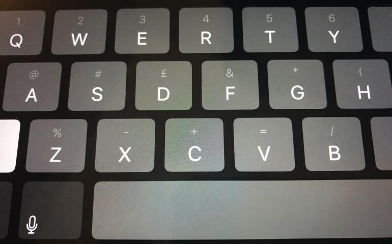 How to dramatically improve your typing speed on an iPad (or make your typing more accurate)