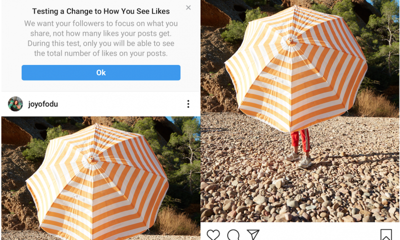 Instagram tests hiding Like counts globally