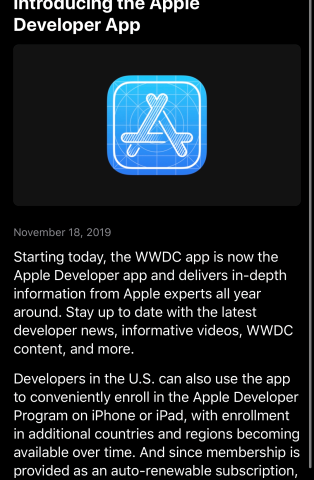 Apple launches a dedicated mobile app for its developer community