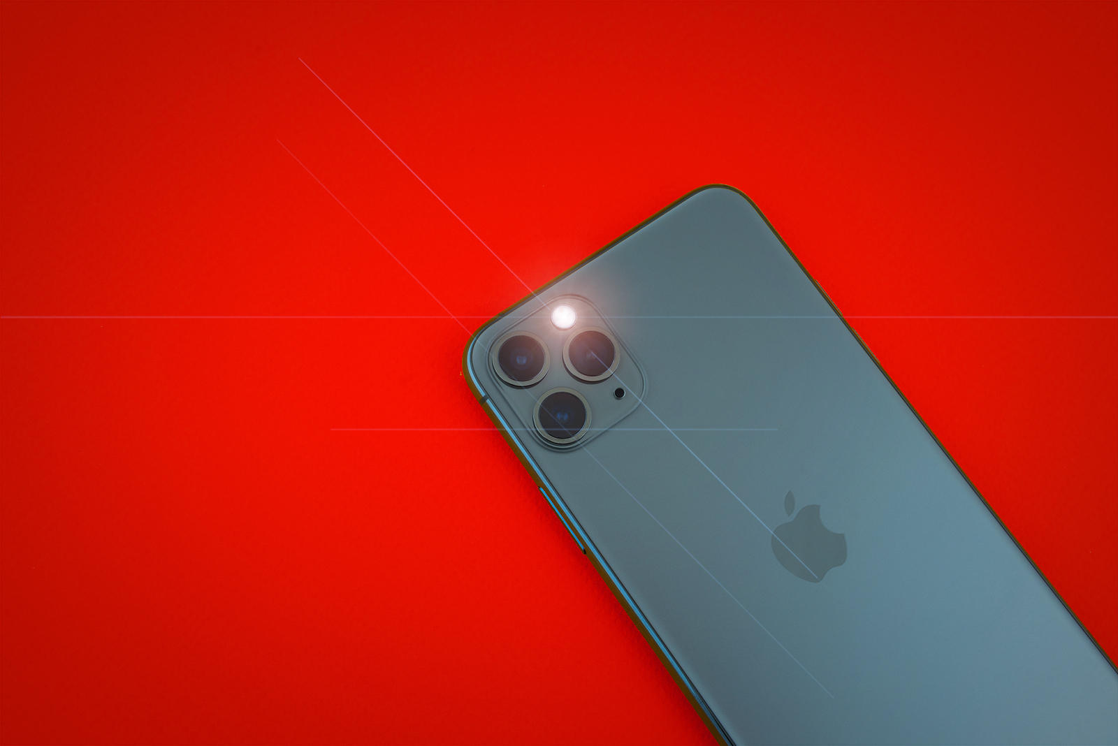 Iphone 11 Max Pro over yellow background