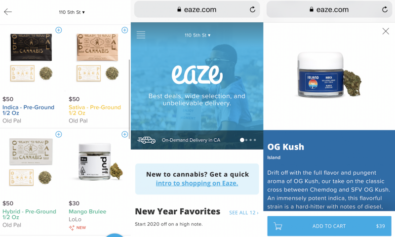 Marijuana delivery giant Eaze may go up in smoke