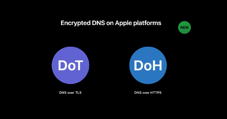 Apple adds support for encrypted DNS (DoH and DoT)