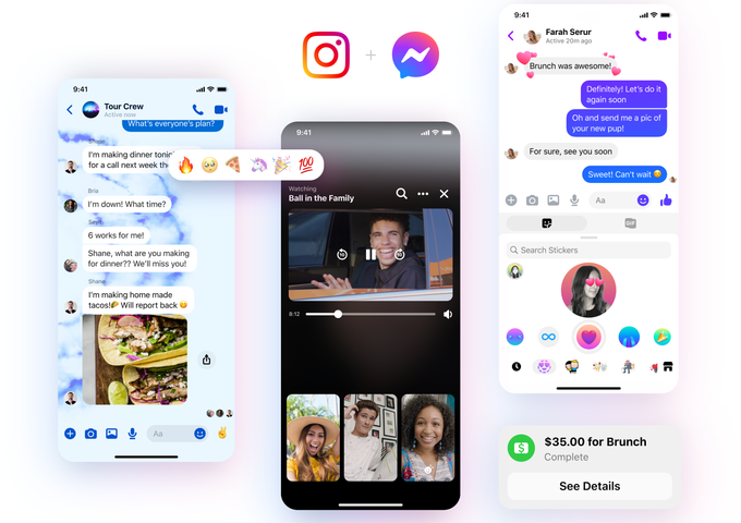 Messenger's latest update brings new features, cross-app communication with Instagram