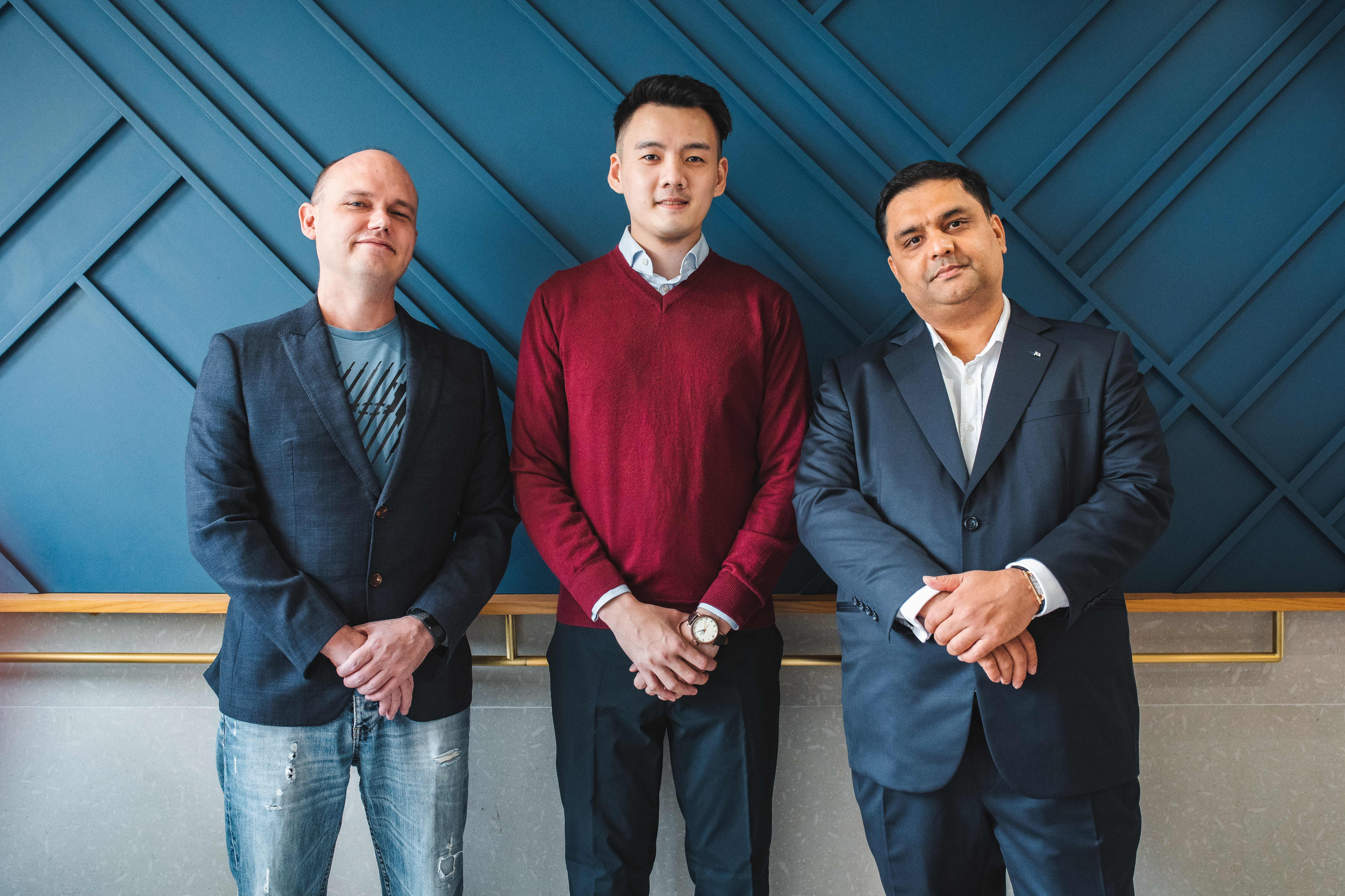 From left to right: Rainmaking co-founder Michael Pomerleau, Rainmaking director Shaun Hon and Wilhelmsen vice president of open innovation Nakul Malhotra