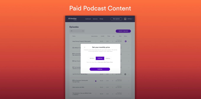 Spotify to test paid podcast subscriptions this spring via new Anchor feature